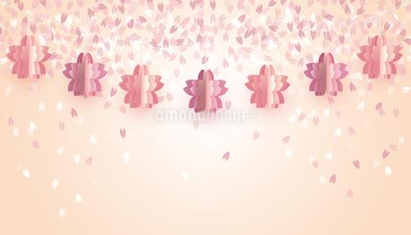 桜 オーナメント 背景のイラスト素材 [FYI03766008]
