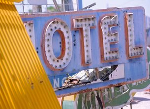 Old Las Vegas Signs, Nevada, USAの写真素材 [FYI03766031]