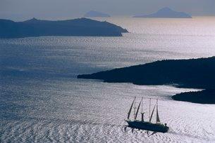 Santorini, Cyclades Islandsの写真素材 [FYI03766069]