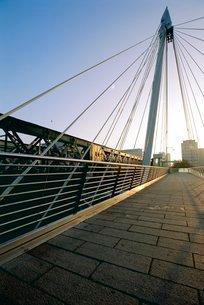 Millennium Bridge, River Thamesの写真素材 [FYI03766080]