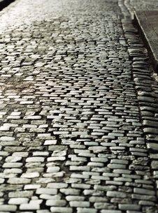 Cobbled road near St. Tropez, Cote d'Azurの写真素材 [FYI03766100]