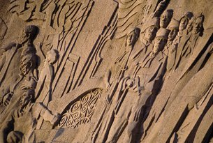 Relief carvings, Bund Museum, Shanghaiの写真素材 [FYI03766177]