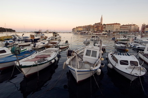Harbour, Rovinj, Croatiaの写真素材 [FYI03766230]