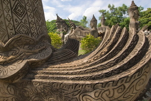 Statues, Laosの写真素材 [FYI03766435]