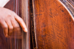 Bass player, Havana, Cubaの写真素材 [FYI03766470]