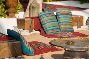 Cushions on the Beach, Maldivesの写真素材 [FYI03766505]