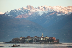 Lake Maggiore, Italian Lakesの写真素材 [FYI03766685]