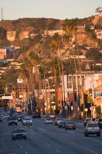Sunset Boulevard, Hollywood, Los Angelesの写真素材 [FYI03766761]