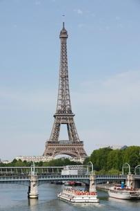 Eiffel Tower and River Seine, Parisの写真素材 [FYI03766783]