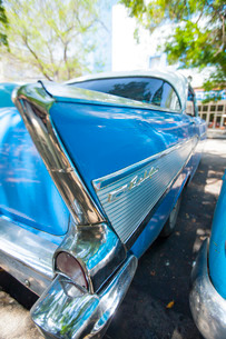 American 1950s car, Havana, Cuba, Caribbeanの写真素材 [FYI03766941]