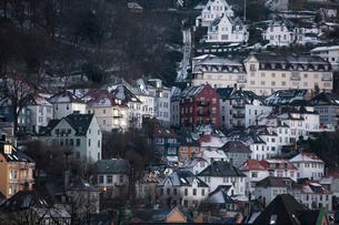 Traditional buildings, Bergen, Norway, Scandinaviaの写真素材 [FYI03766979]