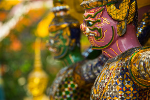 Detail, Grand Palace, Bangkok, Thailand, Southeast Asiaの写真素材 [FYI03767133]
