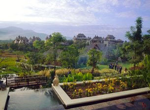 The Golden Triangle, Thailandの写真素材 [FYI03767207]