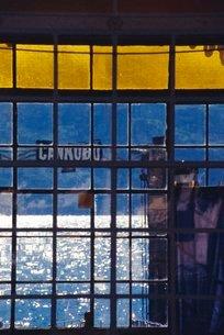 Blue Window, Lake Maggiore (Grainy)の写真素材 [FYI03767220]