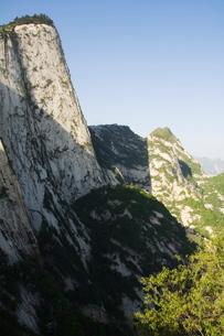 Hua Shan, a granite peaked mountain of 2160m, Shaanxi Provinceの写真素材 [FYI03767364]