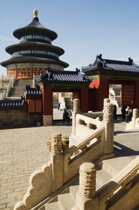 The Hall of Prayer for Good Harvests, The Temple of Heaven, Beijingの写真素材 [FYI03767397]