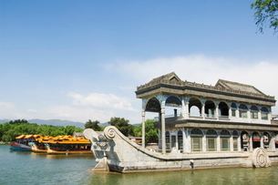 The Marble Boat at Yihe Yuan (The Summer Palace), Beijingの写真素材 [FYI03767398]