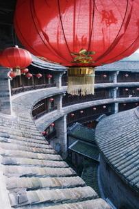 Hakka Tulou round earth buildings, Zhenchenglou, Fujian Provinceの写真素材 [FYI03767490]