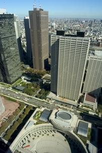 City skyline, Metropolitan Government buildings, Shinjuku, Tokyo, Honshu, Japanの写真素材 [FYI03767777]