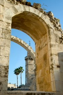 Arch of the Hurva Synagogue, Old Walled City, Jerusalem, Israel, Middle Eastの写真素材 [FYI03767834]