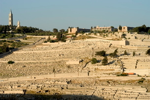 Jewish Cemetery, Mount of Olives, Jerusalem, Israel, Middle Eastの写真素材 [FYI03767835]