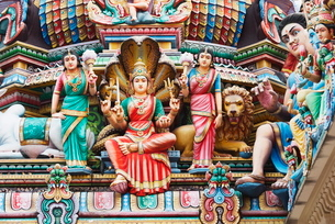 Sri Mariamman Hindu Temple, Singapore, Southeast Asiaの写真素材 [FYI03767904]