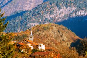 Autumn scenery, Passy, Rhone Alpes, Haute Savoie, French Alpsの写真素材 [FYI03768109]