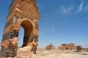Ben Wordan castle ruins, near Hama, Syria, Middle Eastの写真素材 [FYI03768122]