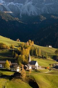 Santa Maddalena, Val di Funes, Dolomites, Bolzano province, Trentino-Alto Adigeの写真素材 [FYI03768143]