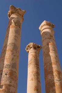 Roman site of Sabratha, Tripolitania, Libyaの写真素材 [FYI03768292]