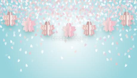 桜 オーナメント 背景のイラスト素材 [FYI03768750]