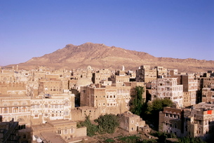 Old Town, Sana'a, Republic of Yemen, Middle Eastの写真素材 [FYI03768758]