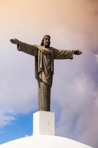 Christ the Redeemer statue, Mount Isabel de Torres, Puerto Plata, Dominican Republic, Caribbeanの写真素材 [FYI03769053]