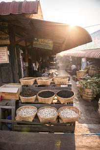 Kalaw market at sunrise, Shan Stateの写真素材 [FYI03769442]