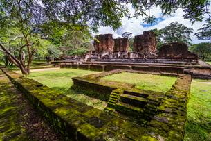 Ruins of Parakramabahu's Royal Palace, Polonnaruwa, Cultural Triangle, Sri Lankaの写真素材 [FYI03769608]