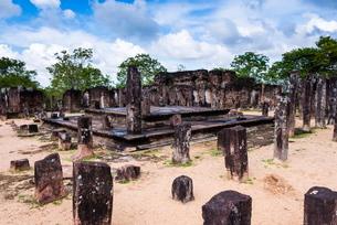 Buddha Seema Prasada, Polonnaruwa, Cultural Triangle, Sri Lankaの写真素材 [FYI03769629]