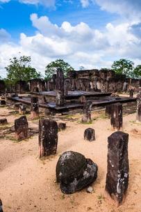 Buddha Seema Prasada, Polonnaruwa, Cultural Triangle, Sri Lankaの写真素材 [FYI03769630]