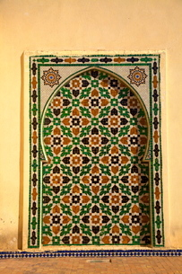 Mausoleum of Moulay Ismail, Meknesの写真素材 [FYI03770775]