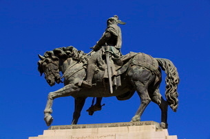 Statue of King Jaume I, Valenciaの写真素材 [FYI03770875]