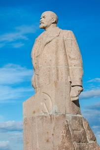 Lenin Statue, Siberian City of Anadyr, Chukotka Province, Russian Far East, Russia, Eurasiaの写真素材 [FYI03770906]