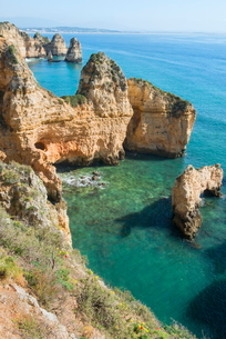 Ponta da Piedade, Lagos, Algarveの写真素材 [FYI03770934]