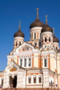 Facade of the Alexander Nevsky Church, Tallinn, Estoniaの写真素材 [FYI03771120]