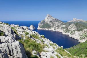 Viewpoint  Mirador d' Es Colomer (Mal de Pas), Cap de Formentor, Cape Formentor, Majorca (Mallorca),の写真素材 [FYI03771640]