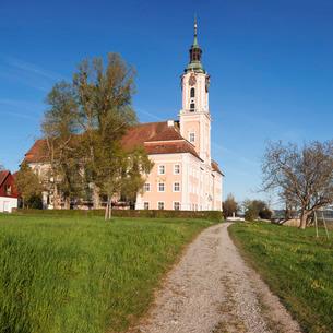 Pilgrimage church of Birnau Abbey in spring, Lake Constance, Baden-Wurttembergの写真素材 [FYI03771934]