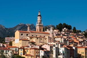 Menton-Alpes-Cote d'Azur, French Rivieraの写真素材 [FYI03773447]