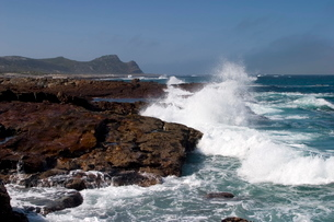 Waves at the Cape of the good hope, Cape of the good hope, Capetownの写真素材 [FYI03773673]