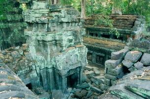 Ta Prohm temple, Angkor, Siem Reap, Cambodia, Indochina, Southeast Asiaの写真素材 [FYI03774267]