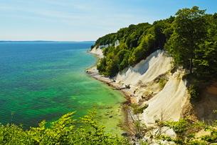 Chalk cliffs, Jasmund National Park, Ruegen Island, Mecklenburg-Vorpommernの写真素材 [FYI03774546]