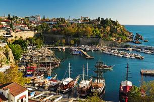 Kaleici old city centre, Antalya Sea, Antalya Province, Anatolia, Turkey Minor, Eurasiaの写真素材 [FYI03774641]