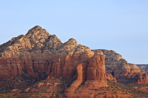 Red rock formations at sunrise, Coconino National Forest, Arizona'の写真素材 [FYI03775658]